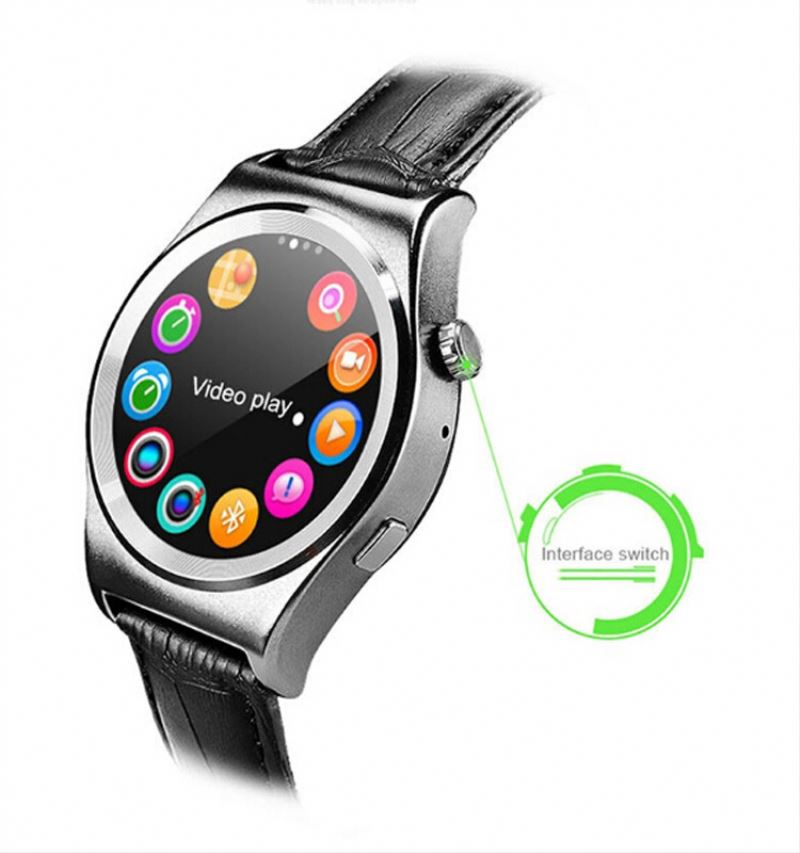 Wholesale Health heart rate wrist round smart watch phone for android & for iphone 6s unlocked