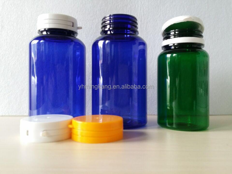 Qualsiasi colore 150cc 200cc 250cc PET bottiglie di pillola, medicina bottiglie con tappo a ...