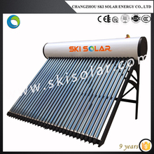 Pressurized 150 l computer controlled solar water heater with adjustable tubes and supports PS 150E