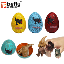 Novelty children souvenir gift animal dinosaur ring toy in egg