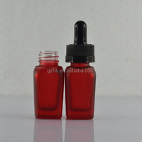 matte red frosted 10ml glass bottles with childproof dropper for eliquid made in China---Stock delivery time 3-5 days