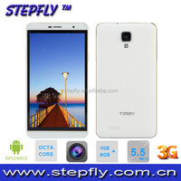 5.5 inch android phone MT6592 Octa core phone Android 4.4 WIFI Bluetooth 3G Mobile Phone(SF-M7)