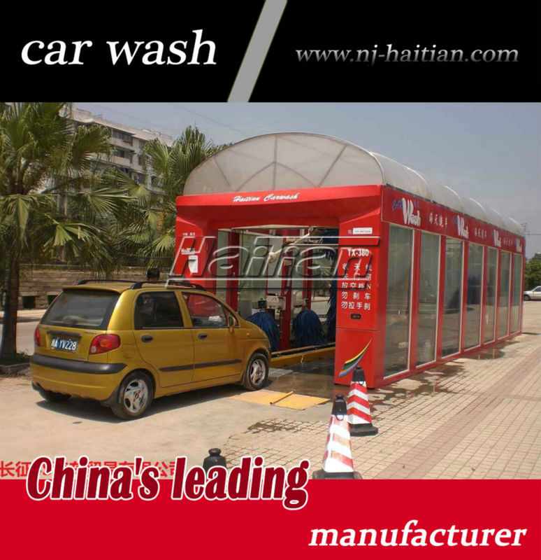 Haitian TX-380A 11 brushes soft touch car wash, conveyorized tunnel system, automatic car washing machine