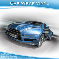 SINO CAR STICKER Air Bubble Free High Quality Car Hood Sticker Film Blue