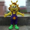 Hola yellow goat mascot costume for adult