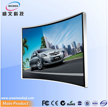 Super enjoy lcd display video advertising player tv curved samsung 65 inch