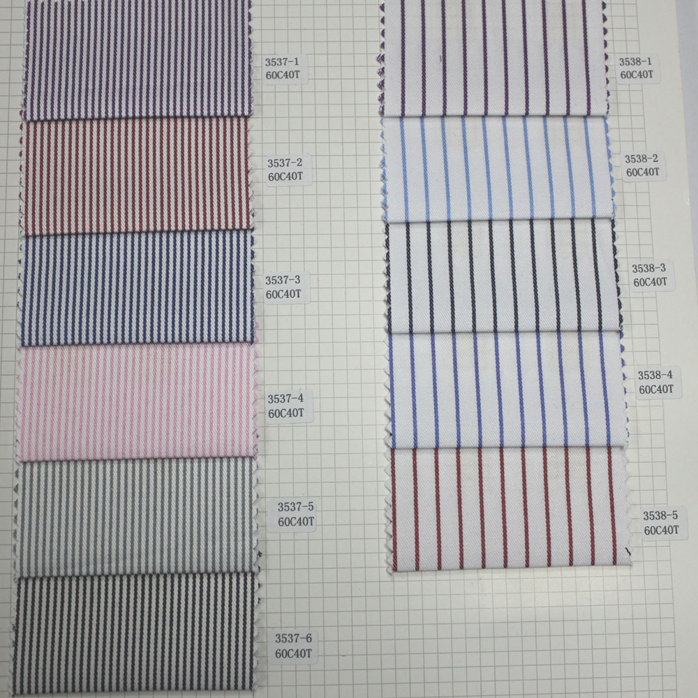 2016 Fashion Stripe 60C40T Mens Cotton Fabric For Shirt