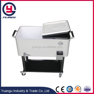 Outdoor barbecue rolling wine cooler trolley wholesale