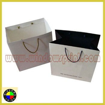 high end cotton handle Paper Bag with eyelet