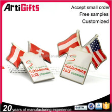 2015 Artigifts complete in specifications cross flag lapel pin badges