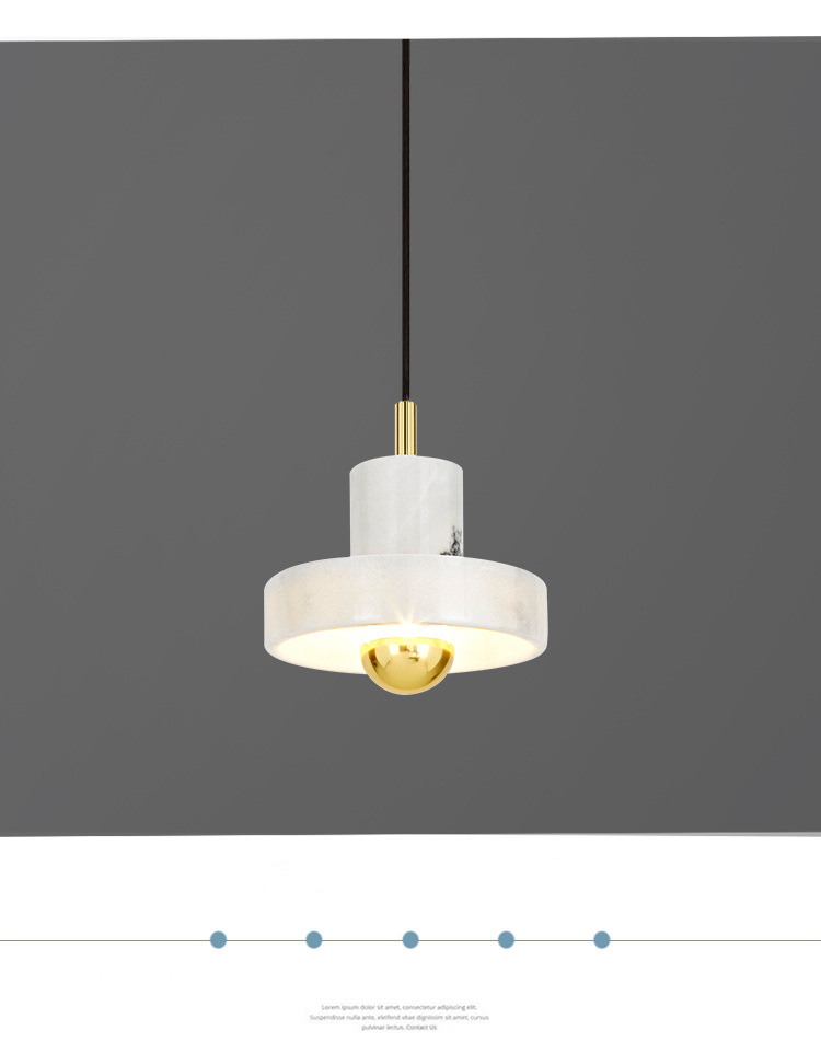Modern style marble e27 light source marble chandelier chandelier commercial pendant lamp