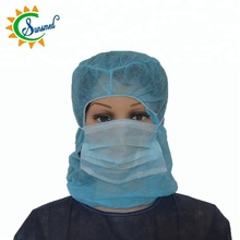 disposable astronaut cap with face masks nonwoven disposable head covers with face masks