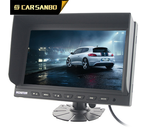 Hot selling 9'' meter panel monitors car video lcd with two video input
