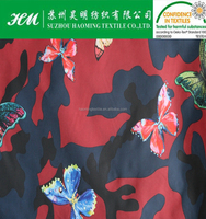 Polyester taffeta printed fabric for children's garment