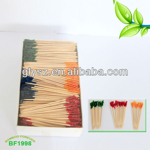 Decorative Party Frilled Picks Cocktail Toothpicks