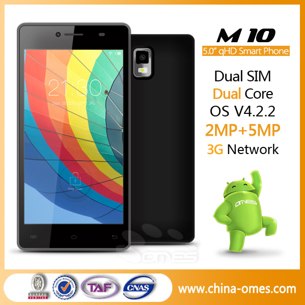 <strong>M10</strong> SHENZHEN OMES Mobile Phone Factory 3G 5inch QHD IPS MTK 6572 5 inch dual core mobile phone