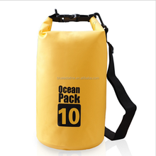 Ocean pack travel outdoor drifting waterproof dry bags 10L beach bucket pvc tarpaulin barrel pouch