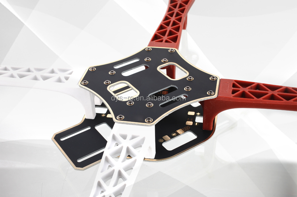 DYS-Quadcopter Air frame F450-V2 with Plastic Material Red and White Color Integrated PCB Wiring