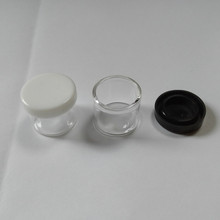 6ml Glass Jar PRE-ROLL TUBE FOR Packing CONCENTRATE <strong>CONTAINER</strong> CLEAR SILICONE CAP