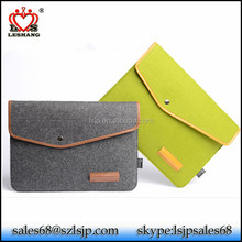 2017 hot China supplier shockproof wool felt laptop bag tablet notebook bag wholesale case for pad