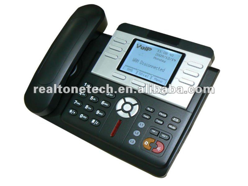 3 SIP lines + IAX2 VOIP PHONE with POE