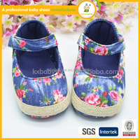 Fashion girls new design flat shoes baby prewalker shoes
