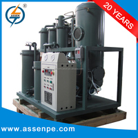 High efficiency vacuum lubricating oil recycling machine, lube oil purifier plant