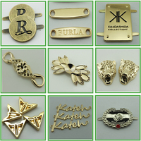 custom made designer embossed permanent adhesive metal logo labels for handbags