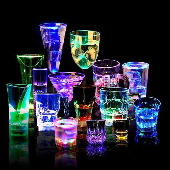 LED 2 in1 Water Beer Cup, Bar Night Club Party Drink LED Flashing Juic Cup