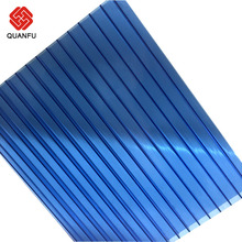 100% Raw Material Twin Wall Polycarbonate Plastic Sheet For Roofing Covering