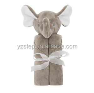 Ins Hot Super Soft Velvet Elephant Animal Baby Blanket