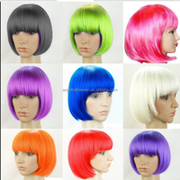 Multi Color Fascinating Popular Halloween Synthetic Women Cosplay Bob Party Carnival Wig FW4174