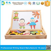 Wooden magnetic animal puzzle drawing board