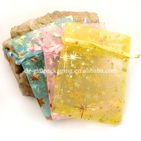 wholesale colorful printde indian gift organza bags ,organza candy bag ,promotional organza bag organza jwelry bag