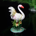 Handmade Enamel Metal Craft Cute Flamingo Trinket Box
