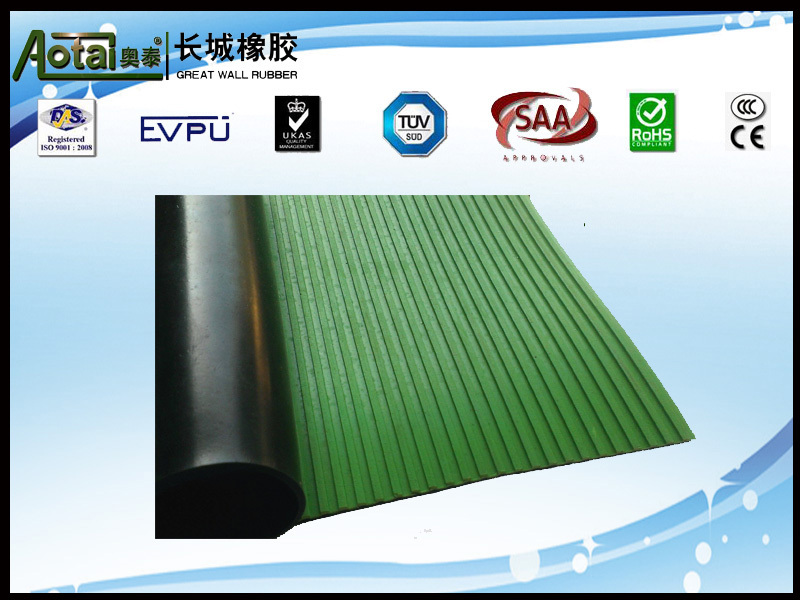 EU and iso9001 certification 5kv-50kv colored Composite ribbed insulation rubbr flooring mat