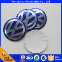 56mm Aluminum Alloy Car VW Wheel Center Centre Caps Decal Sticker
