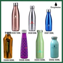 Custom Double wall insulated stainless steel thermos vacuum flask cola shape sport water bottle