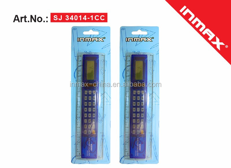 Promotional plastic logo printed cheap ruler calculator