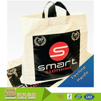 Large size custom logo printing high quality heavy duty black plastic bags wholesale