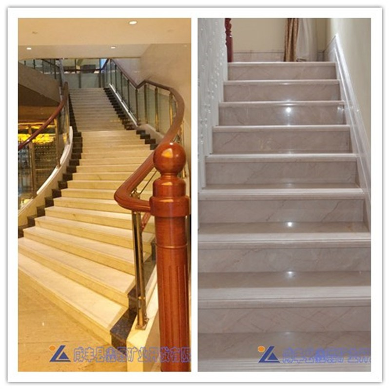 China natural hot-sale marble stone steps stairs