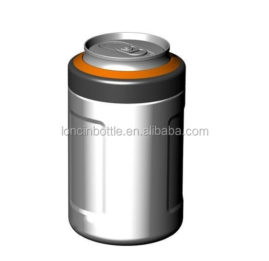 12oz Vacuum Insulated Double Wall Freezer Stainless Steel Can Cooler Beer Can Holder