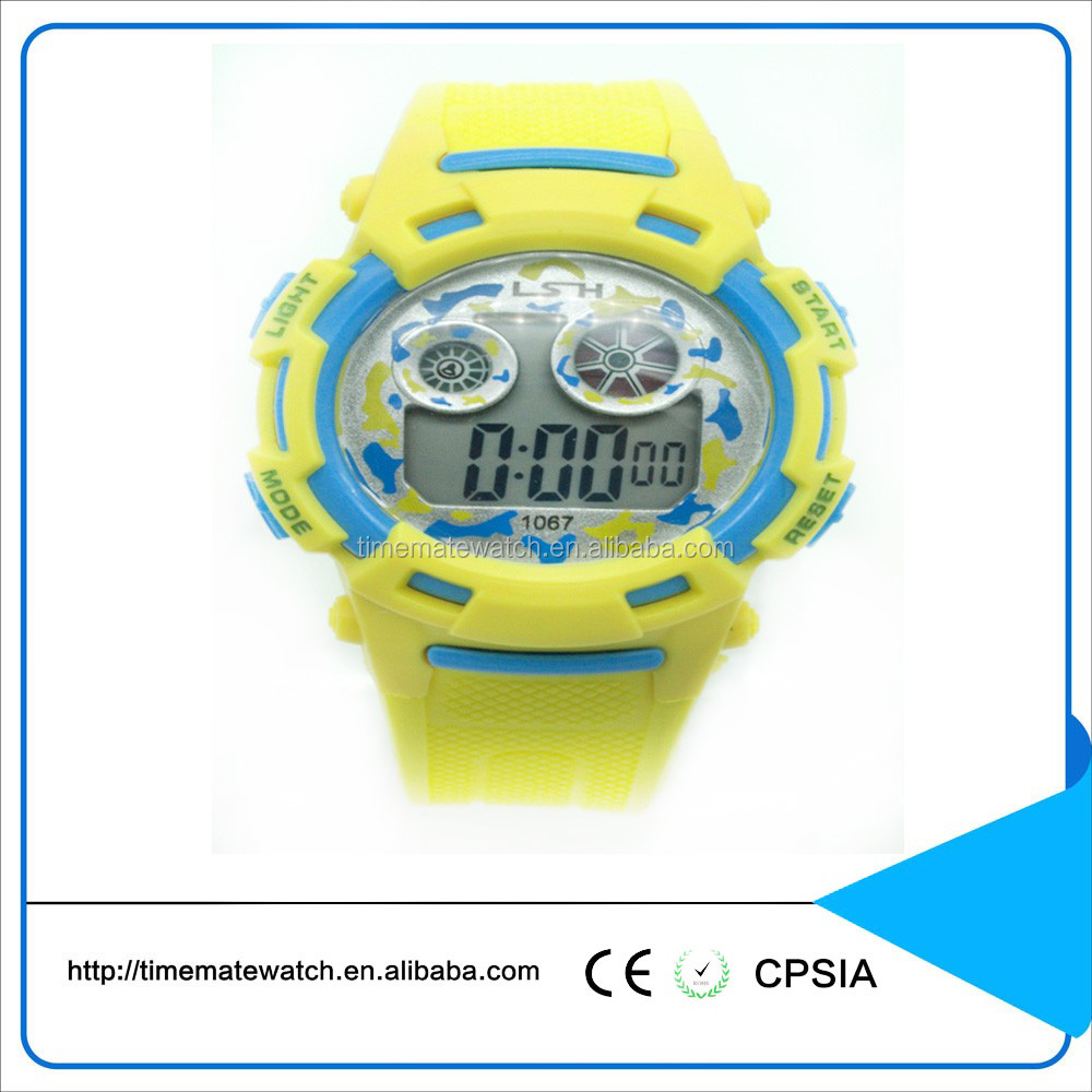 Silicone material digital multimedia mobile watch