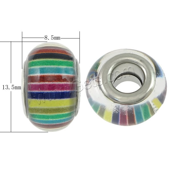 plastic European beads in bulk for wholesal platinum color plated