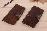 Modern low price Genuine leather Men Fashion and unique children wallet