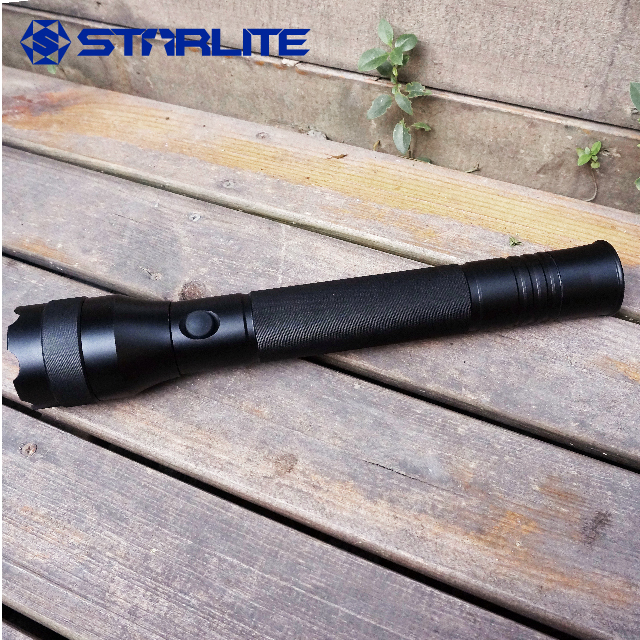 STARLITE 1500 lumens aluminum led flashlight IPX7 3D battery self defense flash light