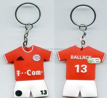Wholesale Cheap Custom Print 3D 2D Soft PVC Rubber Keychain