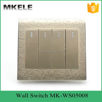 Impact resistance wholesale classical fashion design 4 Gang 2 way switch led touch light switch,electric wall light switch