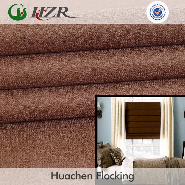 Hot sale faux jute fabric for blackout roman blinds in china