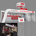 Detian offer fashion modular wooden exhibition booth design expo stand